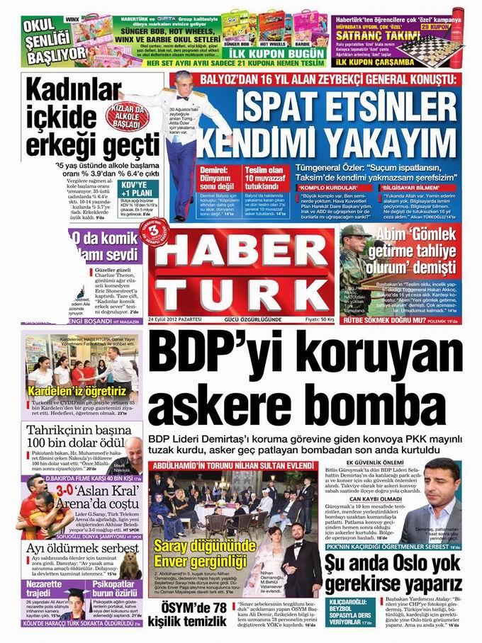 Gazete Manşetleri - 24 Eylül Pazartesi 19