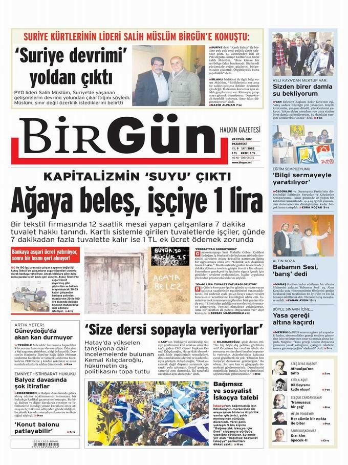 Gazete Manşetleri - 24 Eylül Pazartesi 24