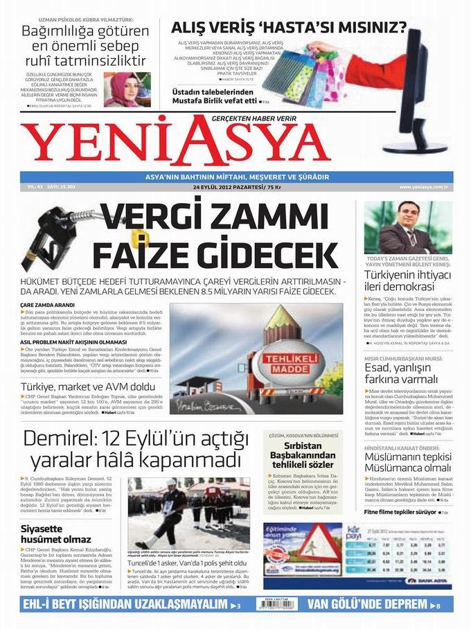 Gazete Manşetleri - 24 Eylül Pazartesi 3