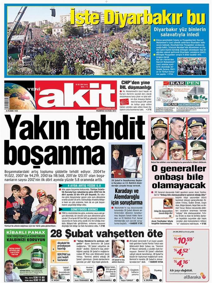 Gazete Manşetleri - 24 Eylül Pazartesi 4