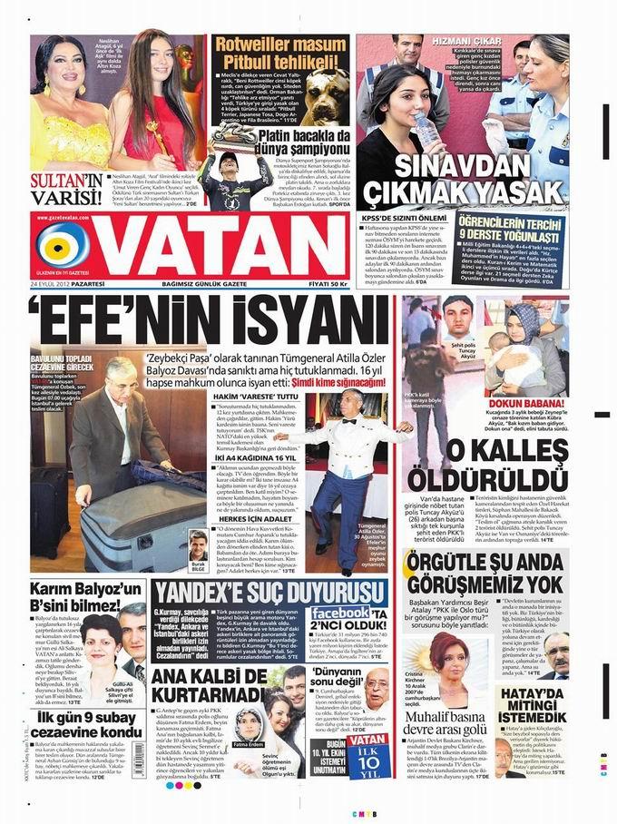 Gazete Manşetleri - 24 Eylül Pazartesi 5