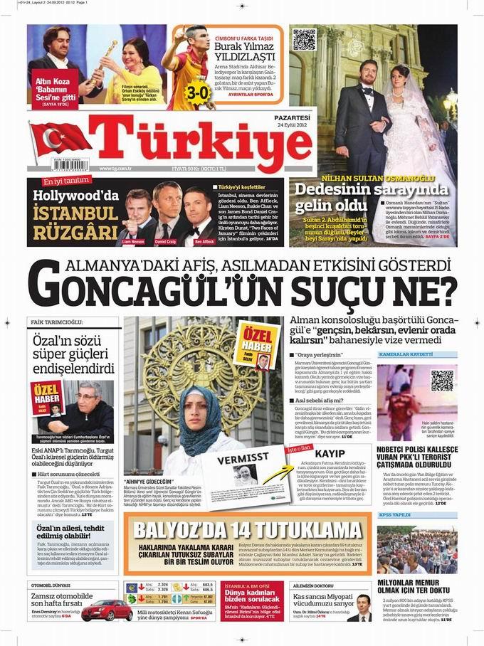 Gazete Manşetleri - 24 Eylül Pazartesi 6