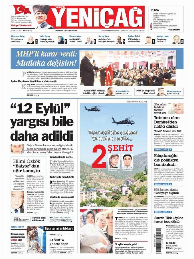 Gazete Manşetleri - 24 Eylül Pazartesi 7