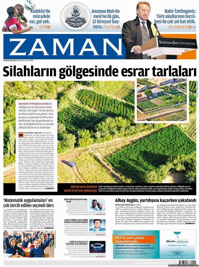 Gazete Manşetleri - 25 Eylül Salı 1