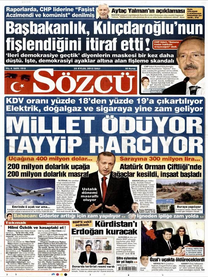 Gazete Manşetleri - 25 Eylül Salı 10