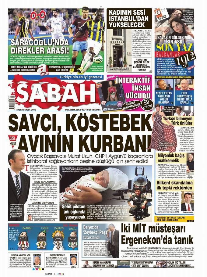 Gazete Manşetleri - 25 Eylül Salı 11