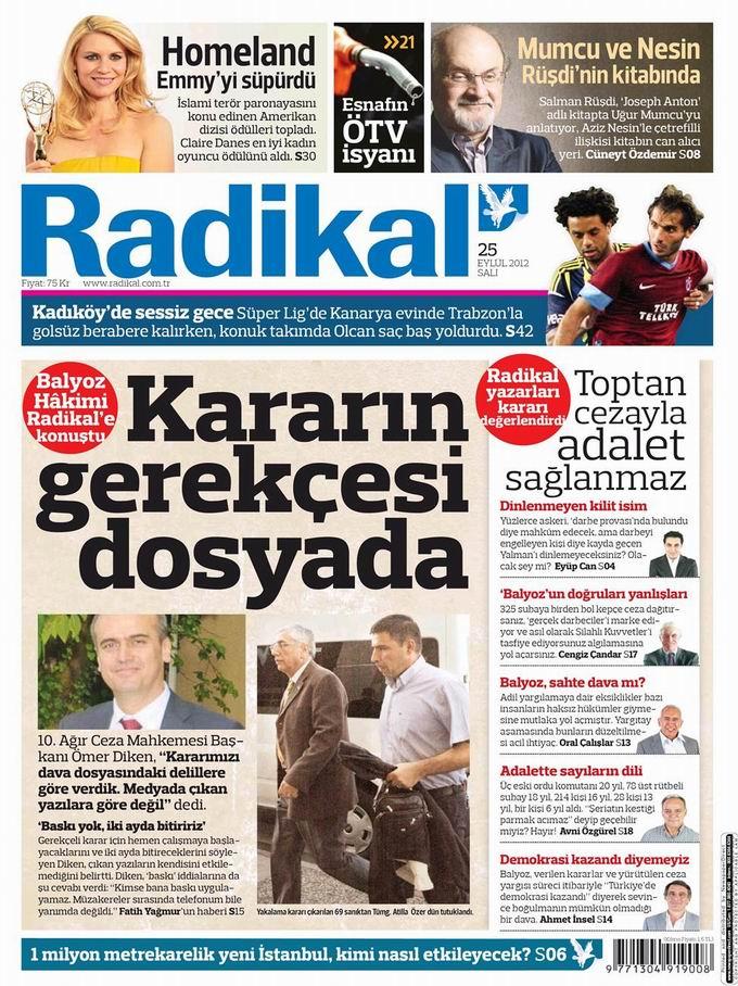 Gazete Manşetleri - 25 Eylül Salı 12