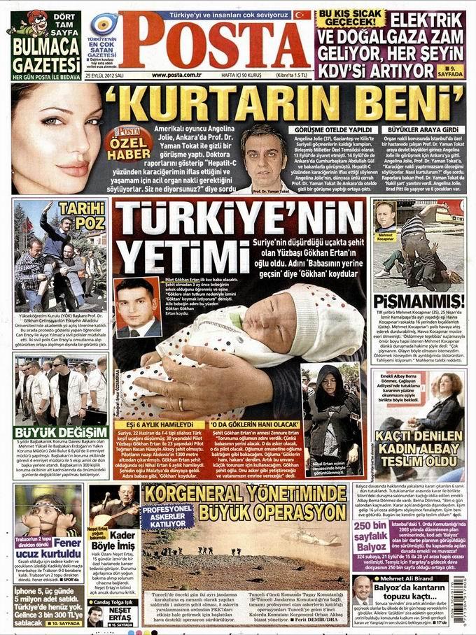 Gazete Manşetleri - 25 Eylül Salı 13