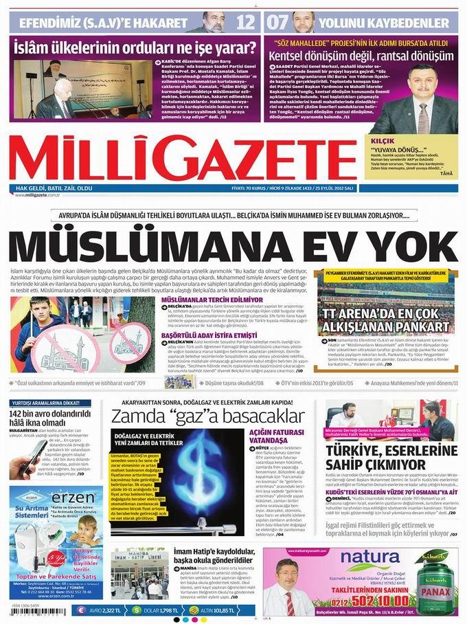Gazete Manşetleri - 25 Eylül Salı 16