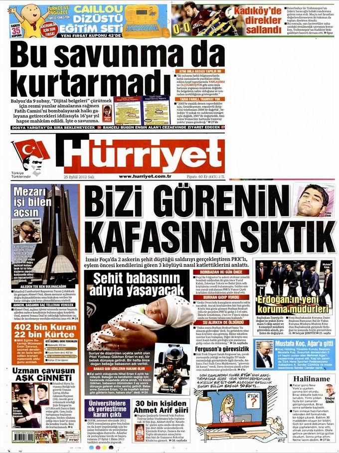 Gazete Manşetleri - 25 Eylül Salı 18