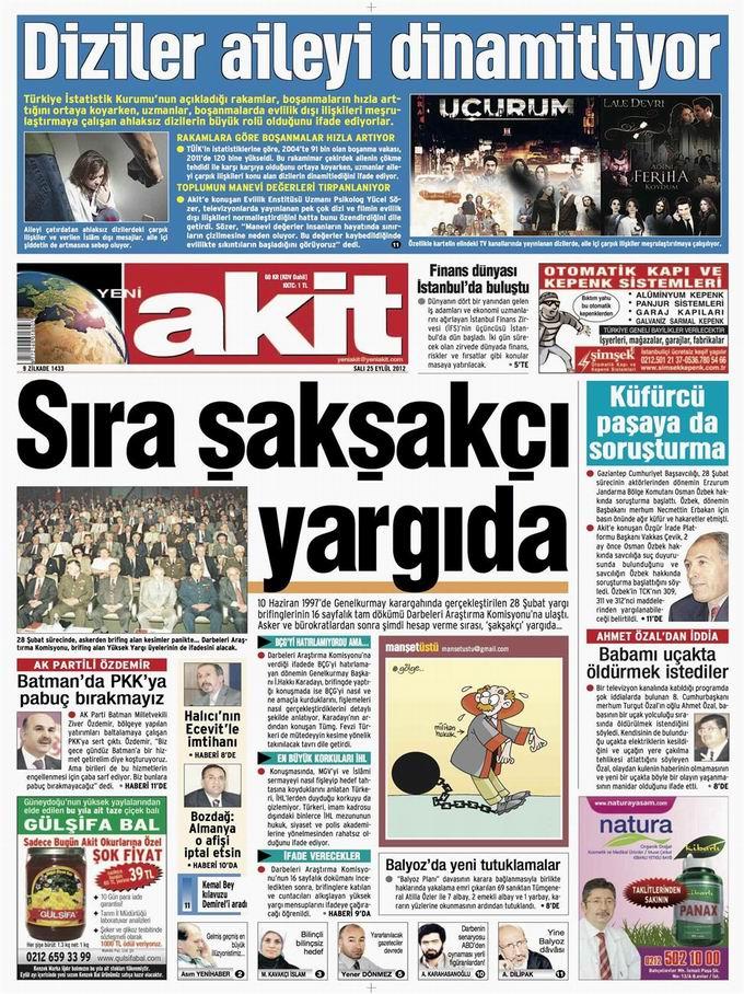 Gazete Manşetleri - 25 Eylül Salı 4