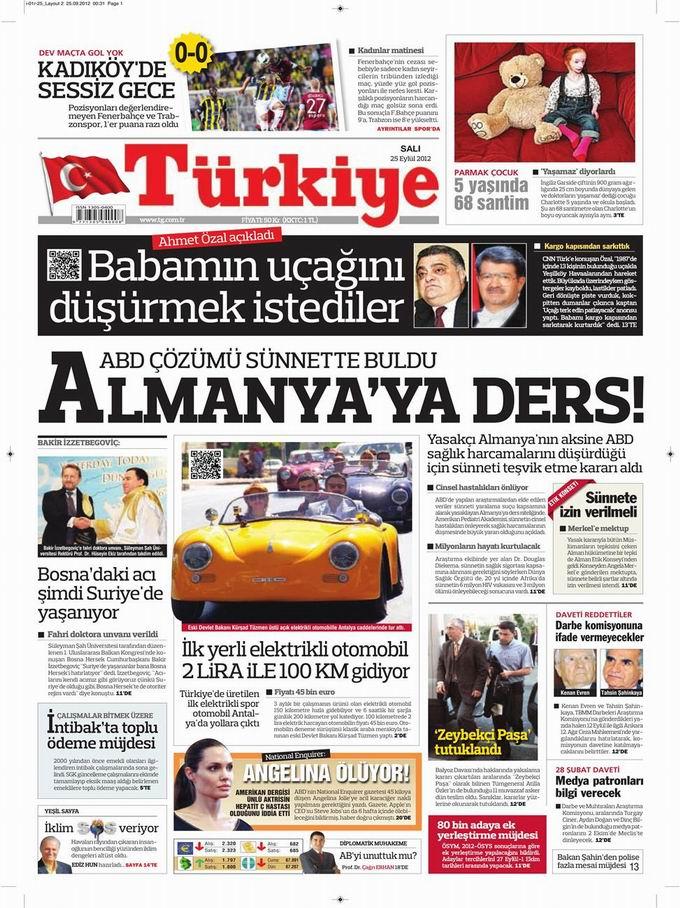 Gazete Manşetleri - 25 Eylül Salı 6