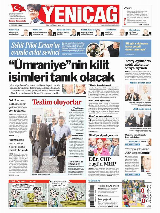 Gazete Manşetleri - 25 Eylül Salı 7