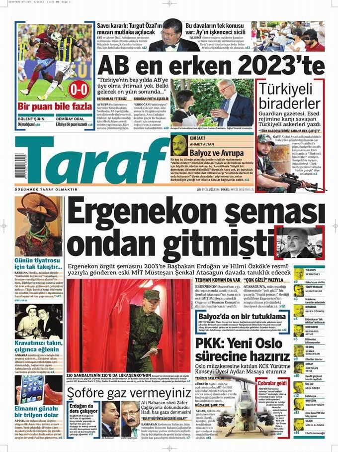 Gazete Manşetleri - 25 Eylül Salı 8