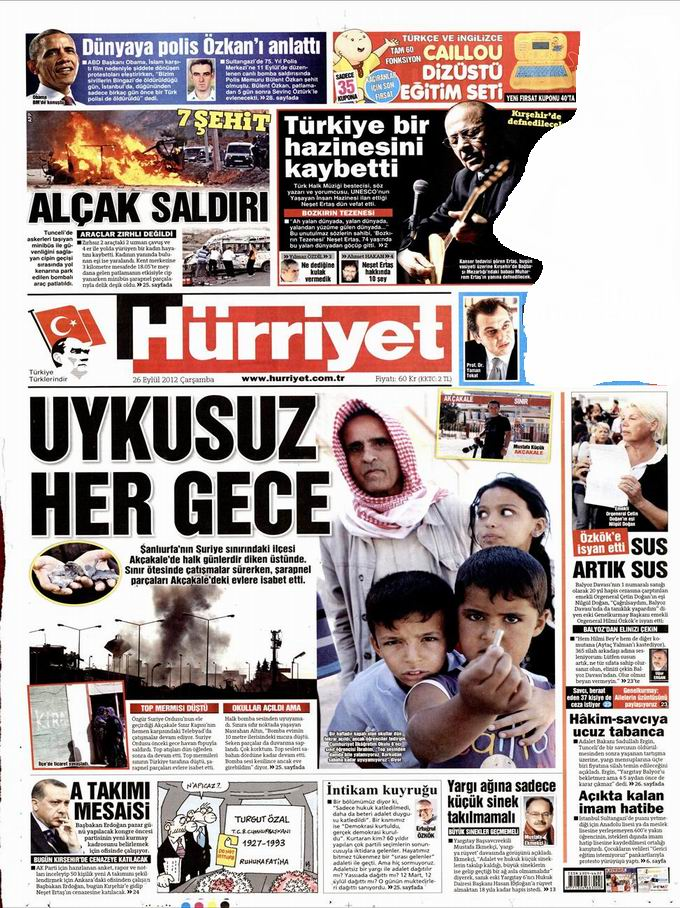 Gazete Manşetleri - 26 Eylül Çarşamba 18