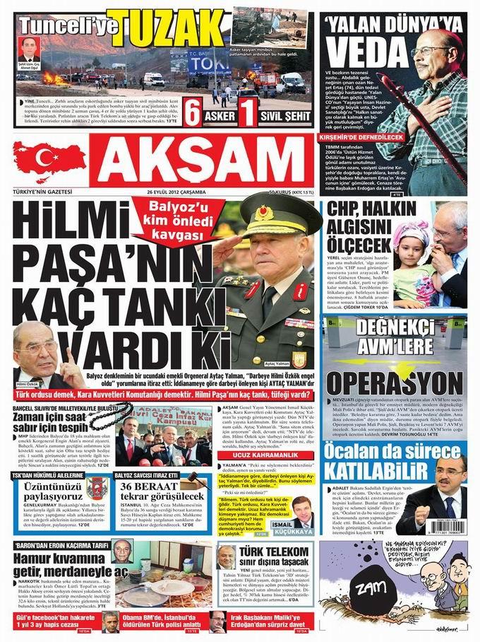 Gazete Manşetleri - 26 Eylül Çarşamba 25