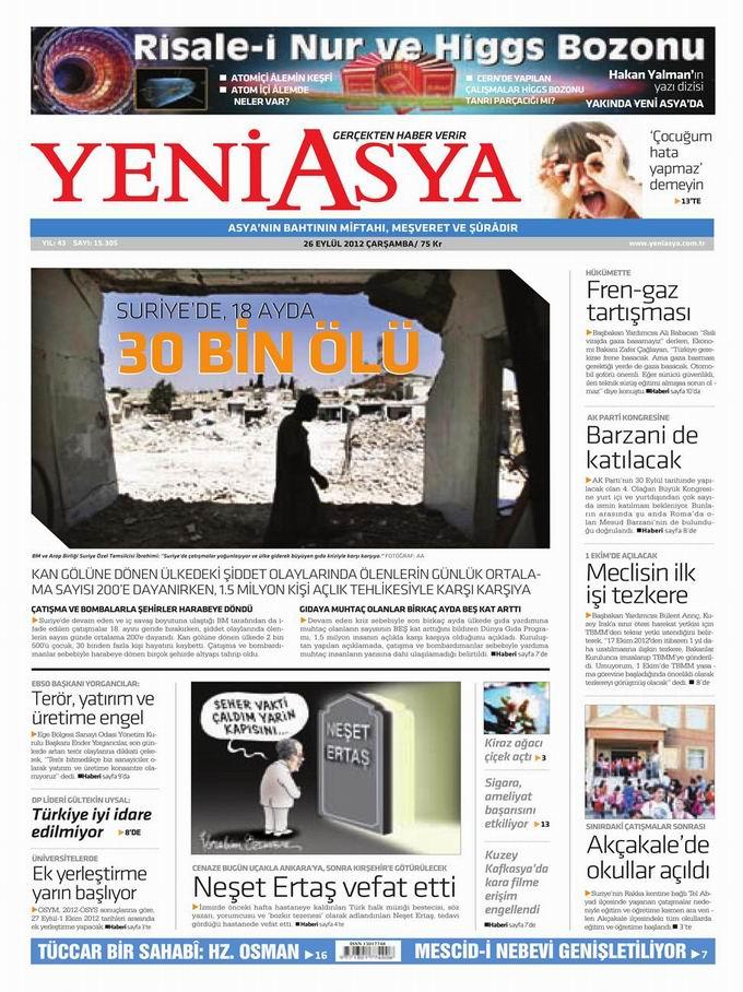 Gazete Manşetleri - 26 Eylül Çarşamba 3