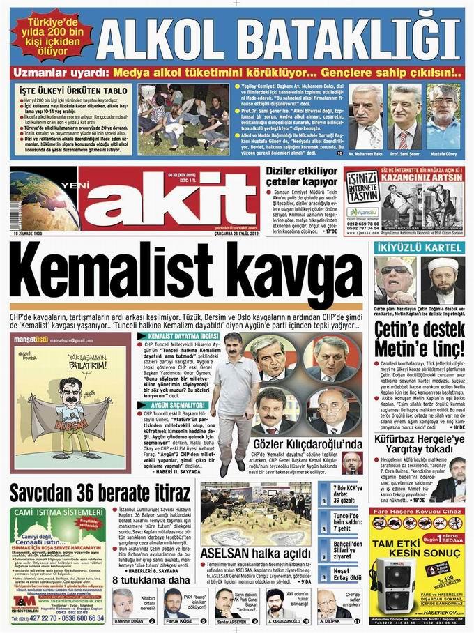 Gazete Manşetleri - 26 Eylül Çarşamba 4