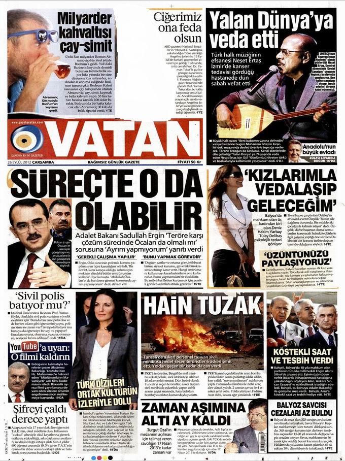 Gazete Manşetleri - 26 Eylül Çarşamba 5