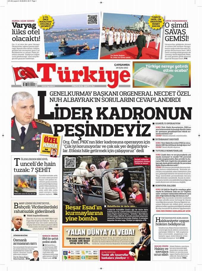 Gazete Manşetleri - 26 Eylül Çarşamba 6