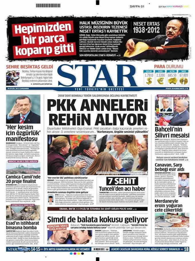 Gazete Manşetleri - 26 Eylül Çarşamba 9
