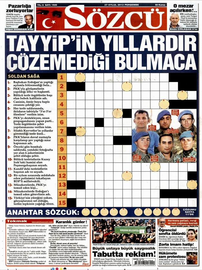 Gazete Manşetleri - 27 Eylül Perşembe 10