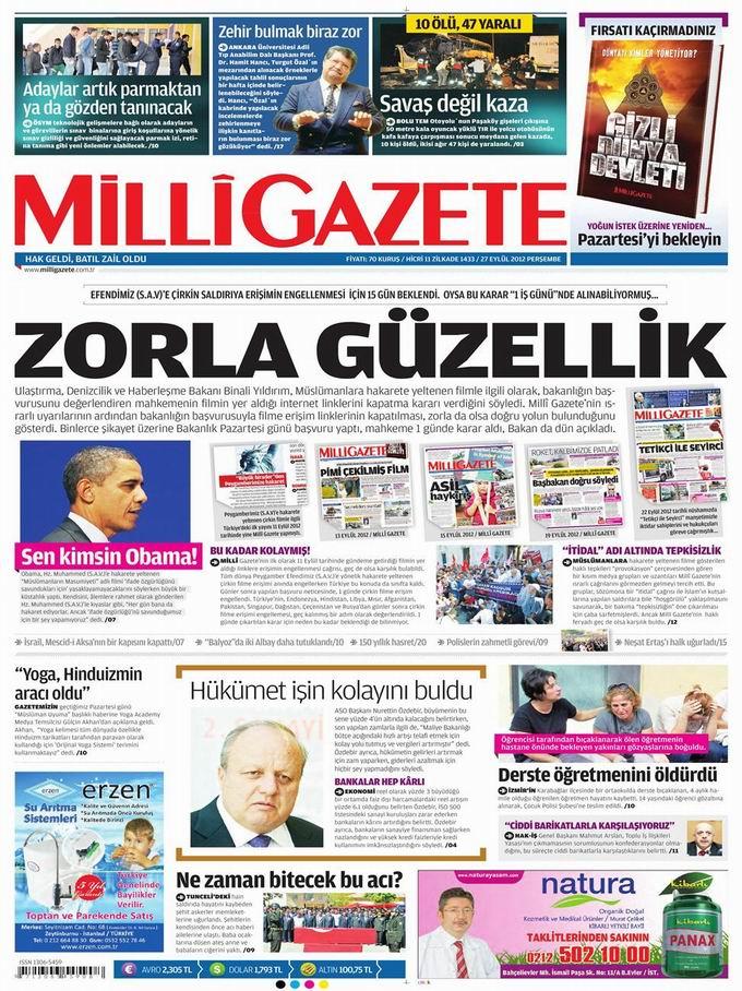 Gazete Manşetleri - 27 Eylül Perşembe 16