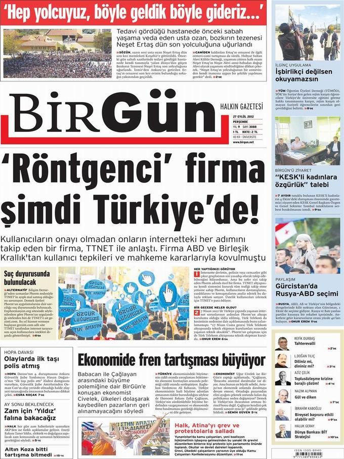 Gazete Manşetleri - 27 Eylül Perşembe 23