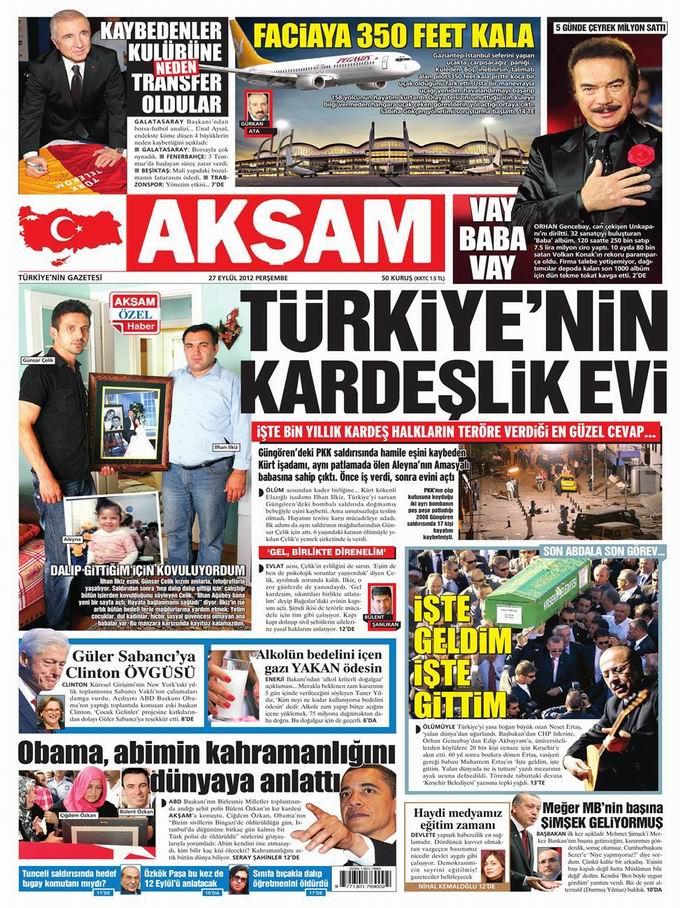 Gazete Manşetleri - 27 Eylül Perşembe 24