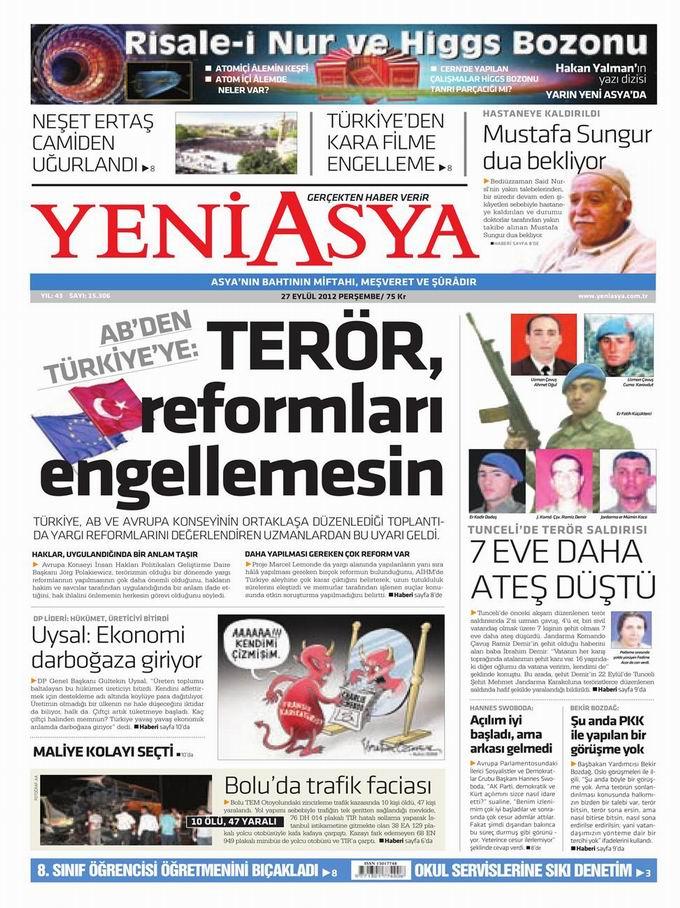 Gazete Manşetleri - 27 Eylül Perşembe 3