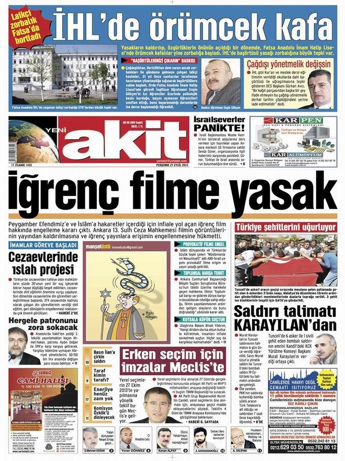Gazete Manşetleri - 27 Eylül Perşembe 4