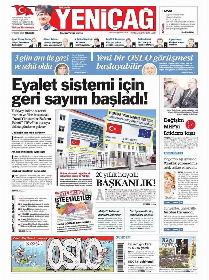Gazete Manşetleri - 27 Eylül Perşembe 7