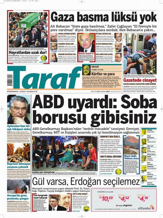 Gazete Manşetleri - 27 Eylül Perşembe 8