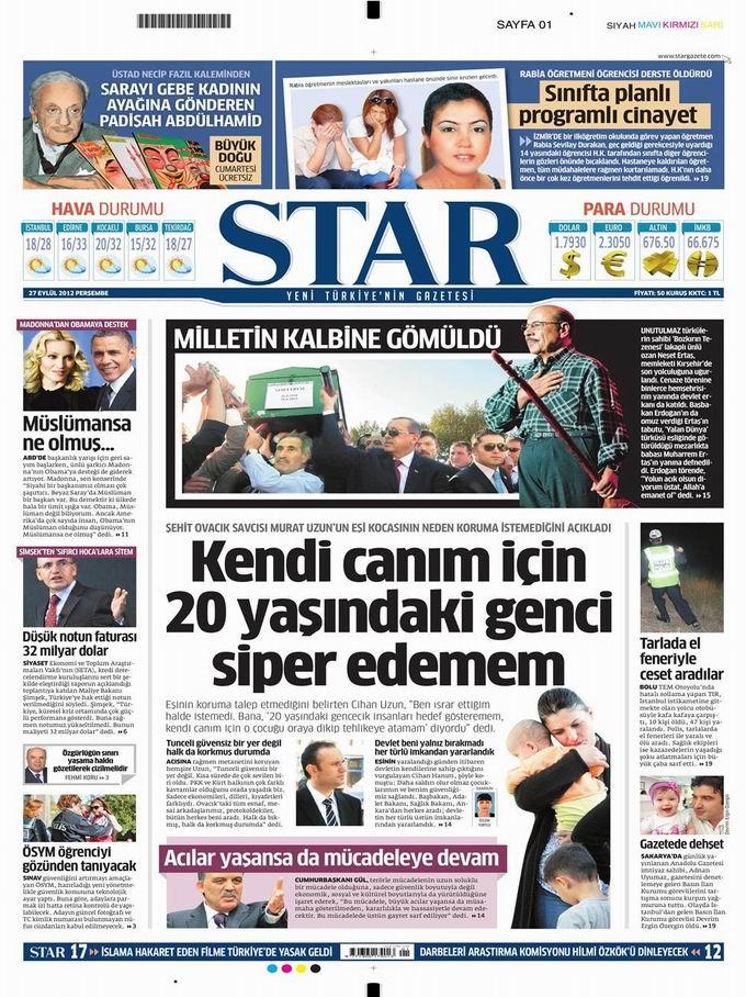 Gazete Manşetleri - 27 Eylül Perşembe 9