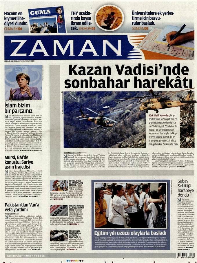 Gazete Manşetleri - 28 Eylül Cuma 1