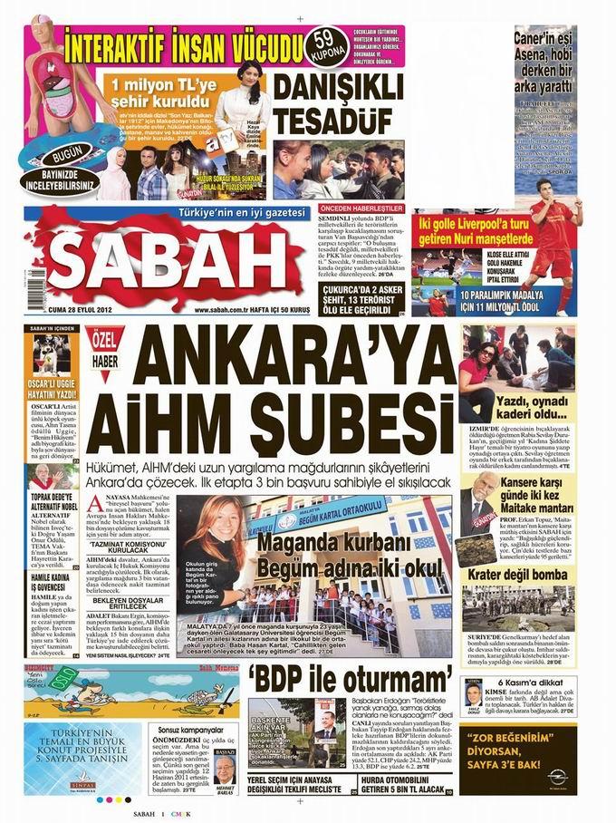 Gazete Manşetleri - 28 Eylül Cuma 11