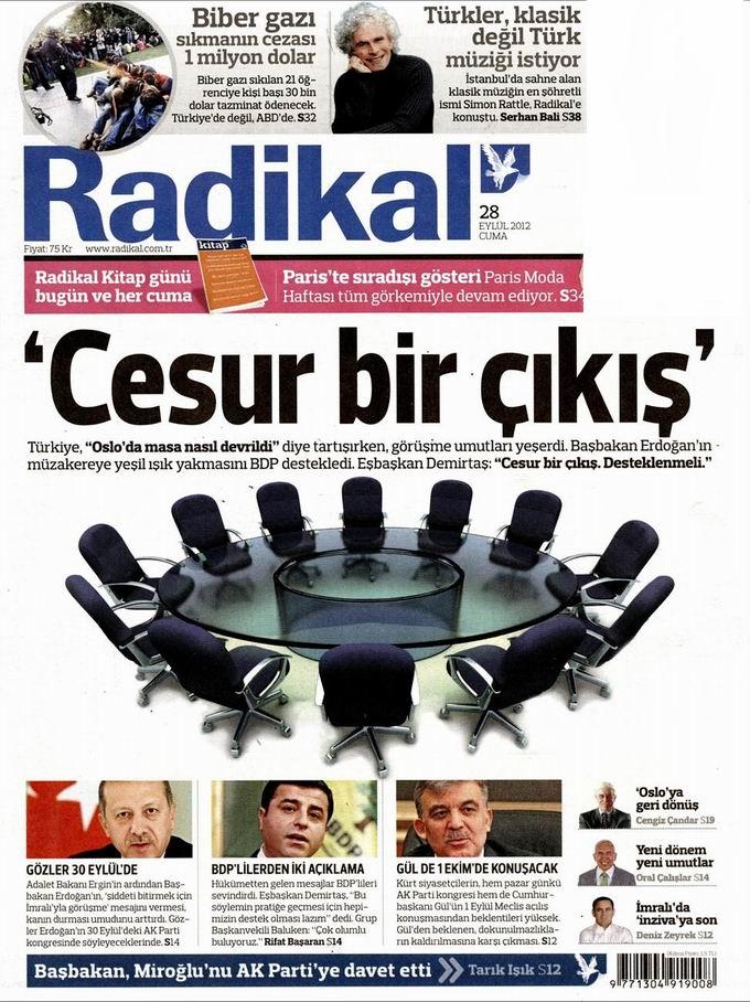 Gazete Manşetleri - 28 Eylül Cuma 12