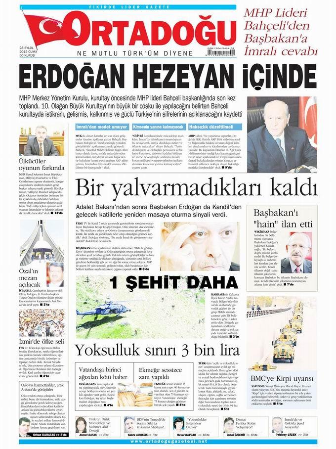 Gazete Manşetleri - 28 Eylül Cuma 14