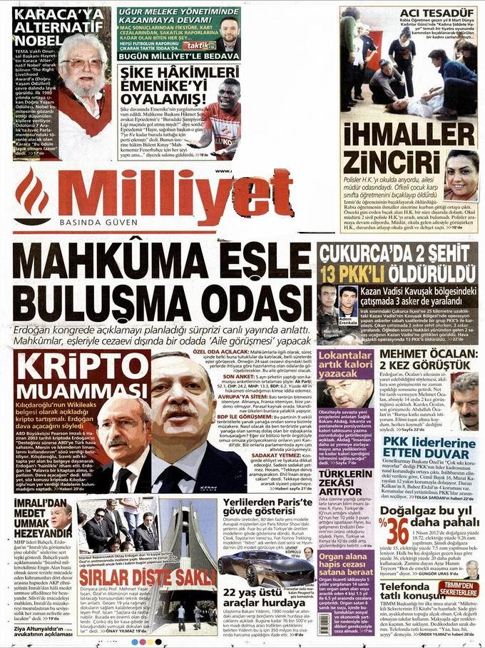 Gazete Manşetleri - 28 Eylül Cuma 15