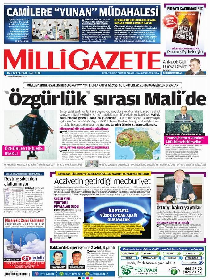 Gazete Manşetleri - 28 Eylül Cuma 16
