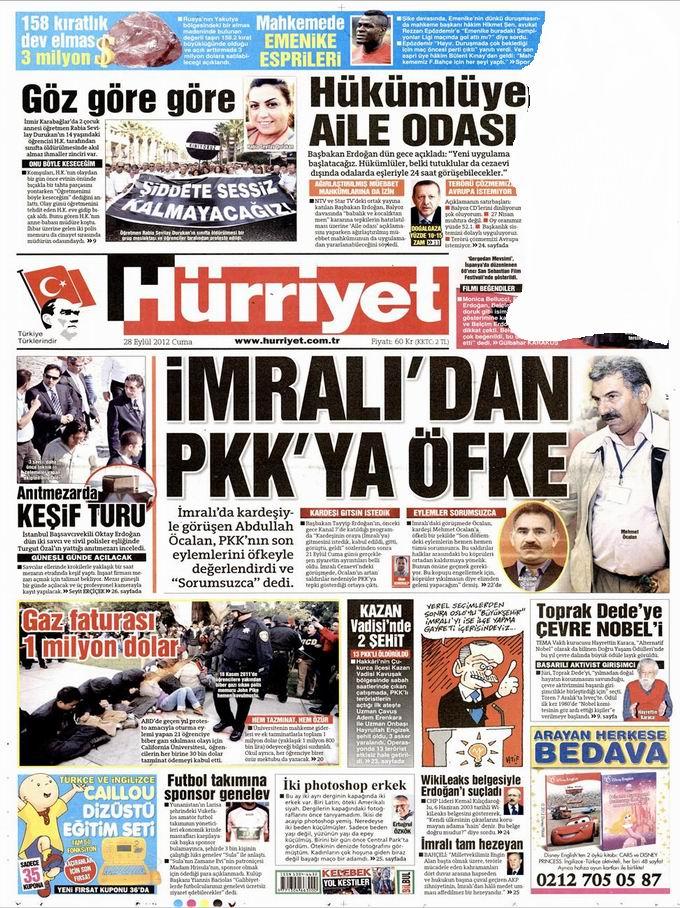 Gazete Manşetleri - 28 Eylül Cuma 18