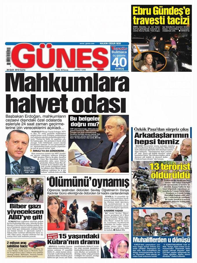 Gazete Manşetleri - 28 Eylül Cuma 20