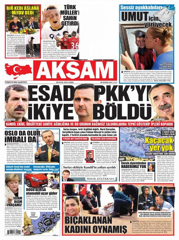 Gazete Manşetleri - 28 Eylül Cuma 24