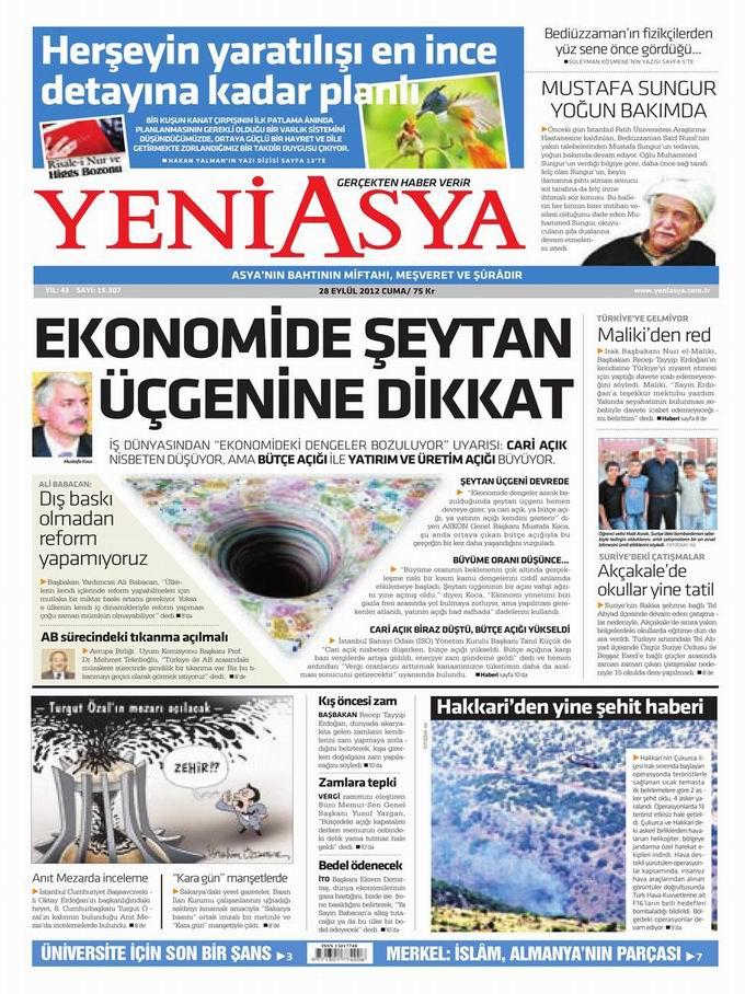 Gazete Manşetleri - 28 Eylül Cuma 3