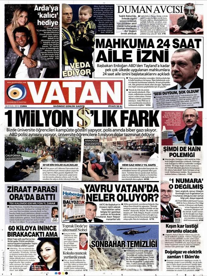 Gazete Manşetleri - 28 Eylül Cuma 5