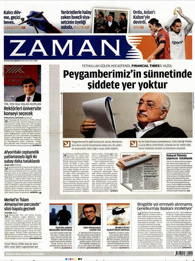 Gazete Manşetleri - 29 Eylül Cumartesi 1