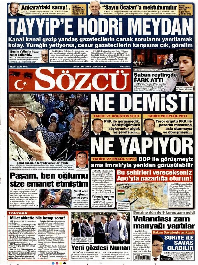 Gazete Manşetleri - 29 Eylül Cumartesi 10