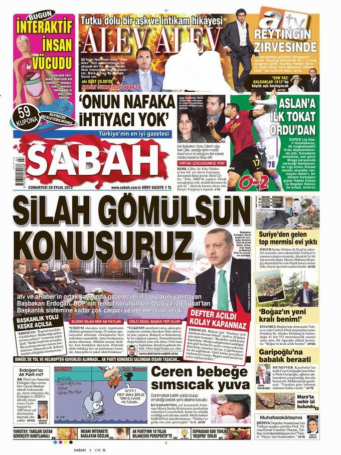 Gazete Manşetleri - 29 Eylül Cumartesi 11