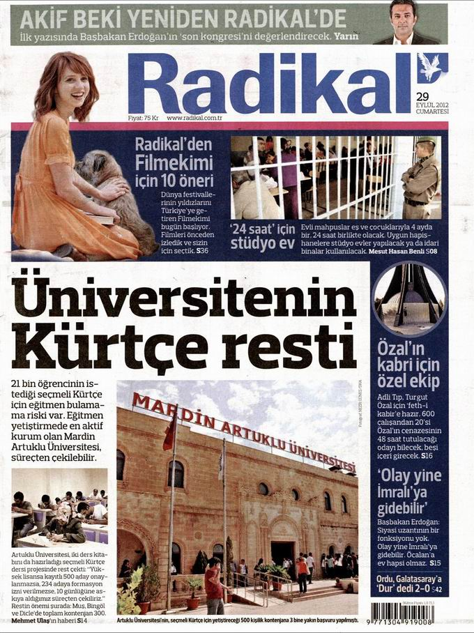 Gazete Manşetleri - 29 Eylül Cumartesi 12