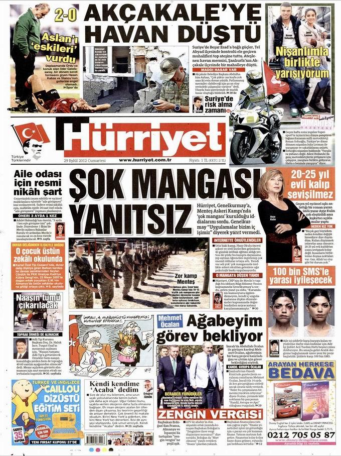 Gazete Manşetleri - 29 Eylül Cumartesi 18
